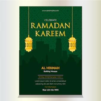 Schöner ramadan kareem flyer