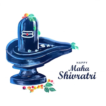 Schöner realistischer lord shiva shivling für maha shivratri festival