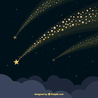Schöner sternspurhintergrund