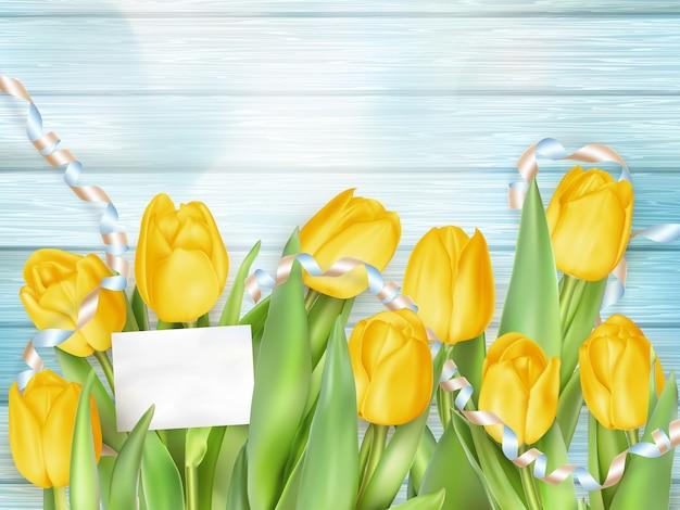 Schöner strauß tulpen.