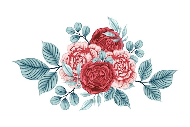Schöner strauß von rosenblumen