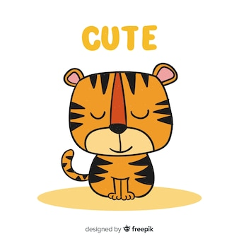 Schöner tigercharakter