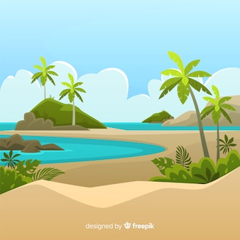 Schöner tropischer hintergrund