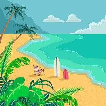 Schöner tropischer strandhintergrund