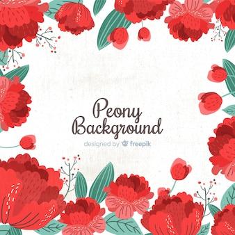 Schöner und kreativer pfingstrosenblumenhintergrund