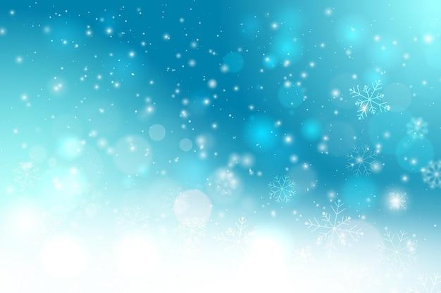 Schöner unscharfer winterhintergrund