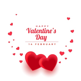 Schöner valentinstaggruß mit liebesherzen