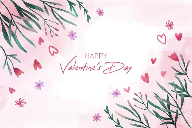 Schöner valentinstaghintergrund mit blumen