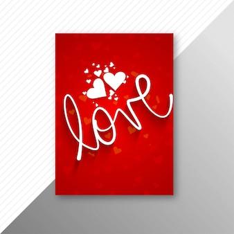 Schöner valentinstagkartenbroschüren-schablonenhintergrund