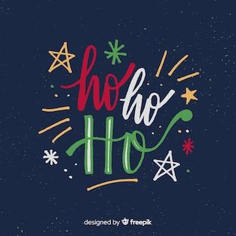 Schöner weihnachtsbeschriftungshintergrund