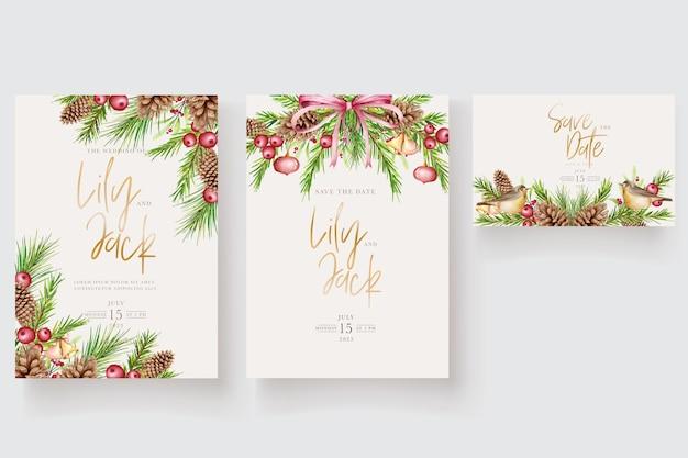 Schöner weihnachtsblumen- und blätterhintergrund