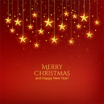 Schöner weihnachtsgoldener sternfeierhintergrund