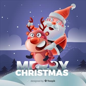 Schöner weihnachtshintergrund mit realistischem design