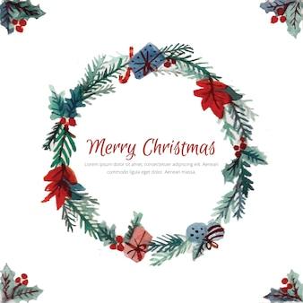Schöner weihnachtskranz