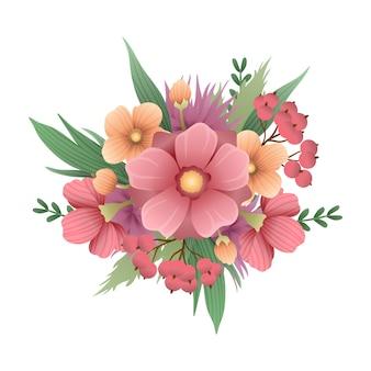 Schöner weinleseblumenstrauß von blumen