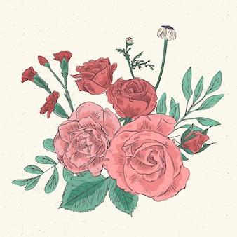 Schöner weinleseblumenstrauß