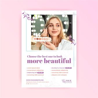 Schönere kosmetische flyer vorlage