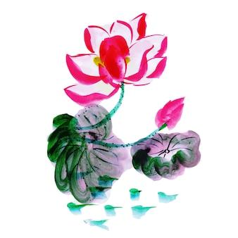 Schönes aquarell blumenelement