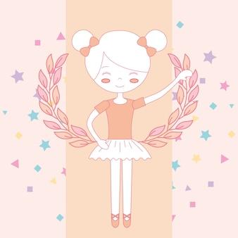 Schönes ballerina-ballett