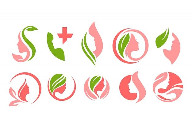 Schönes beauty- und spa-logo