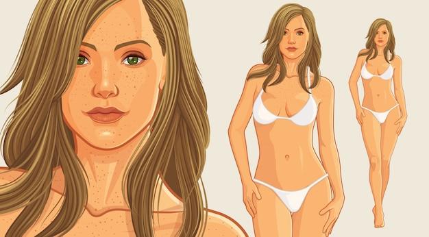 Schönes bikinimädchen