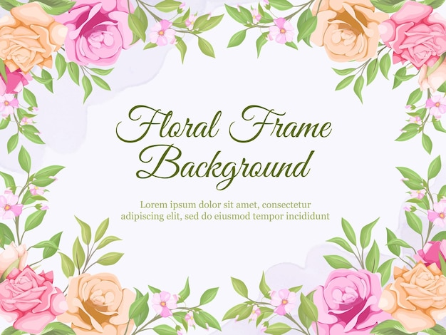 Schönes blumenhochzeits-banner-hintergrund-schablonen-design