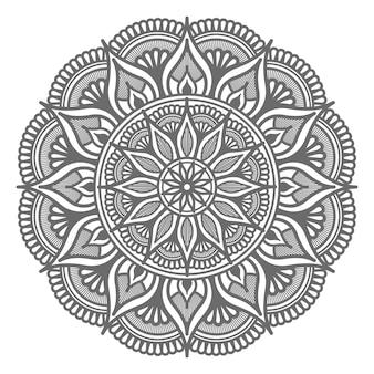 Schönes blumenmandala zur dekoration
