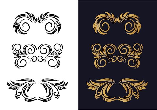 Schönes dekoratives blumendekorationsset