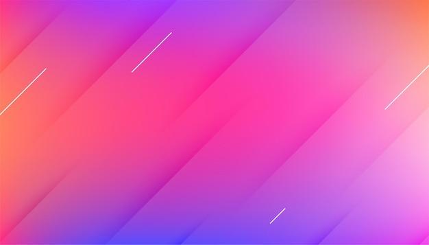 Schönes farbenfrohes hintergrunddesign mit farbverlauf