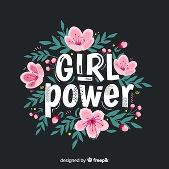 Schönes feminismuskonzept mit flachem design