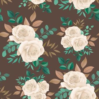 Schönes florales handgezeichnetes nahtloses musterdesign