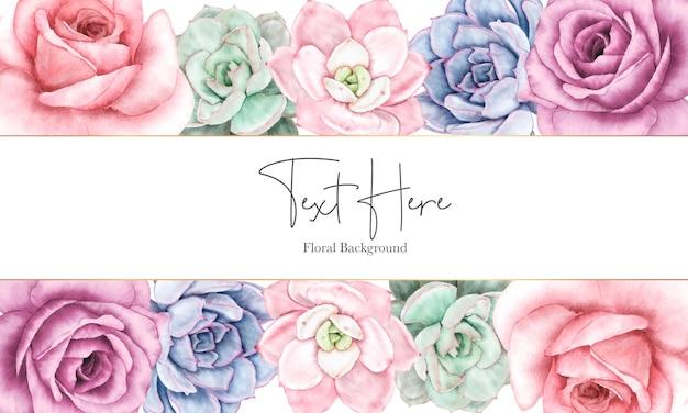 Schönes florales hintergrunddesign mit aquarellblumenverzierung