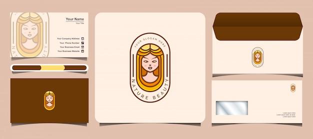 Schönes frauenlogo. logo für schönheit, salon, spa und kosmetik