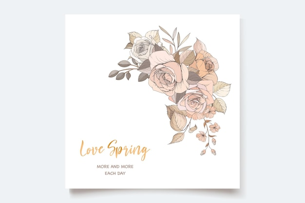 Schönes frühlingsblumeneinladungskartenset