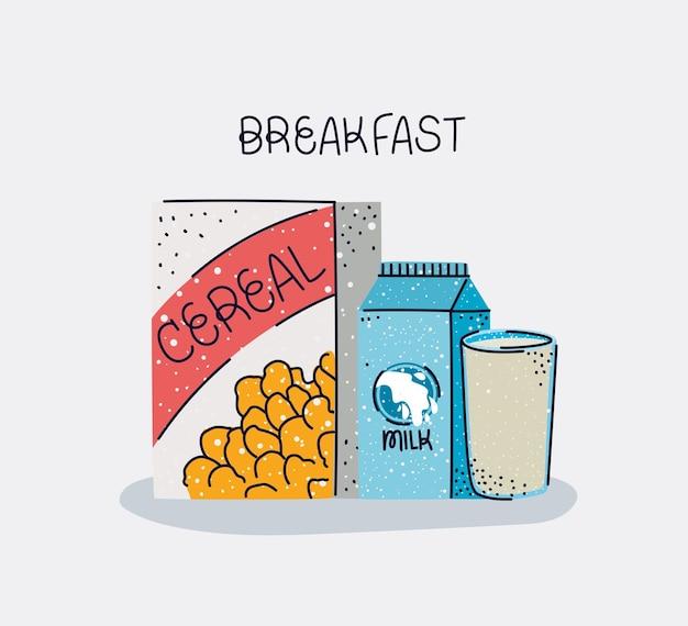 Schönes frühstücksposter