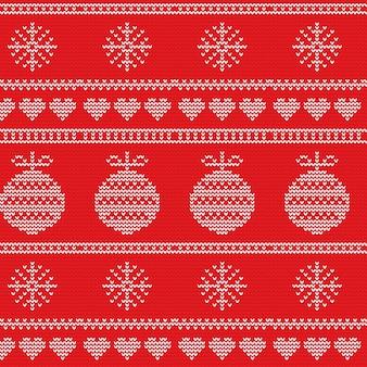 Schönes gestricktes weihnachtsmuster