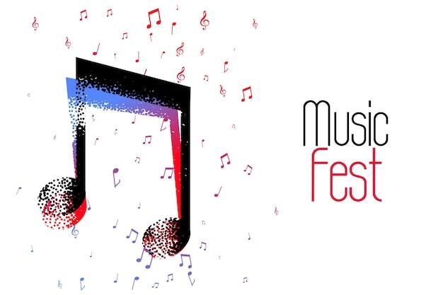 Schönes hintergrunddesign für musiknoten Kostenlosen Vektoren