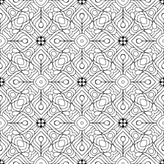Schönes indisches traditionelles nahtloses muster schwarzweiss