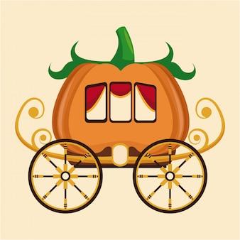 Schönes kürbiswagen-radgold
