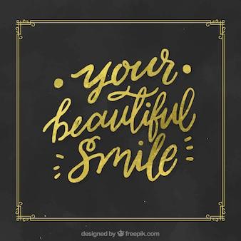 Schönes lächeln hintergrund