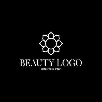 Schönes logo-design mit lotusblume logo-konzept für beauty-center-spa-hotelmode