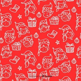Schönes lustiges weihnachtsmuster