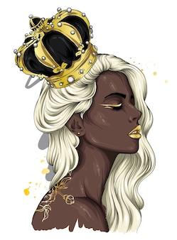 Schönes mädchen in einer krone