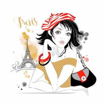 Schönes mädchen in paris
