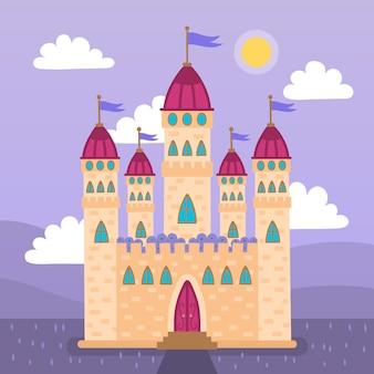 Schönes märchenschlosskonzept