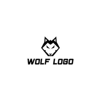 Schönes modernes und starkes wolfslogo