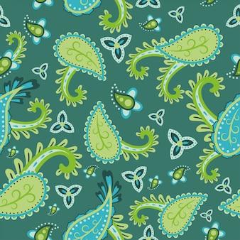 Schönes muster mit paisley-design