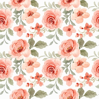 Schönes nahtloses muster der aquarellrosenblume