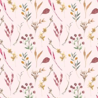Schönes nahtloses muster der blumigen weichen rosa farben