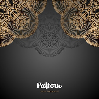 Schönes nahtloses muster des islamischen mandalas.